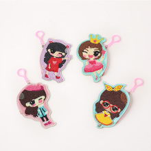 DIY Special Shaped Diamond Painting Wallet Girl Coin Purse Pendants Gifts Keychain Small Purse Diamond Embroidery Cross Stitch недорого