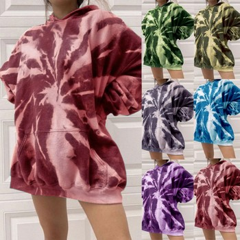 Tie-dye Women's Hoodies Autumn Winter Female Hooded Casual Sweatshirt Tops Oversized Ladies Girls Hoodie Hoodies #YJ image