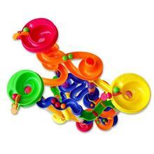 Набор DIY строительный мраморный гоночный трек строительные блоки детский лабиринт мяч рулонные игрушки Рождественский подарок мяч трек игрушка