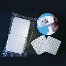 Lingettes en coton papier non pelucheux, dissolvant de colle pour cils, feuille de coton propre, tampons nettoyants pour nail Art, 100 pièces/paquet