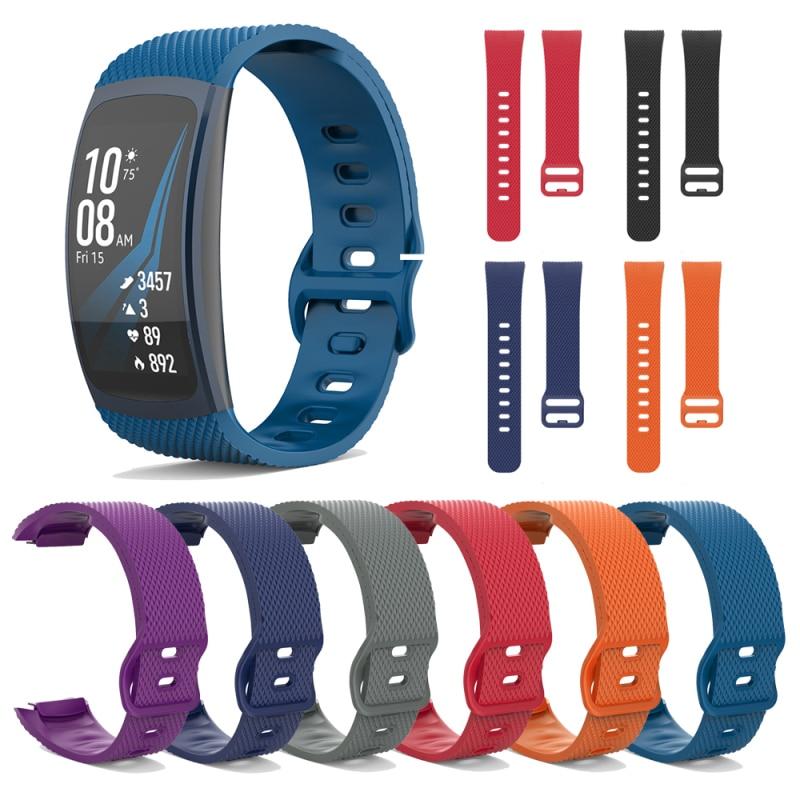 Silicone Sport Watch Band For Samsung Gear Fit2 Pro Fitness Watch Bands Wrist Strap For Samsung Gear Fit 2 SM-R360 M-R365 Bracel