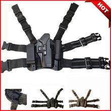 Combate tático glock pistola coldre militar caça tiro caso arma airsoft perna coldre apto para glock 17 19 22 23 31 32