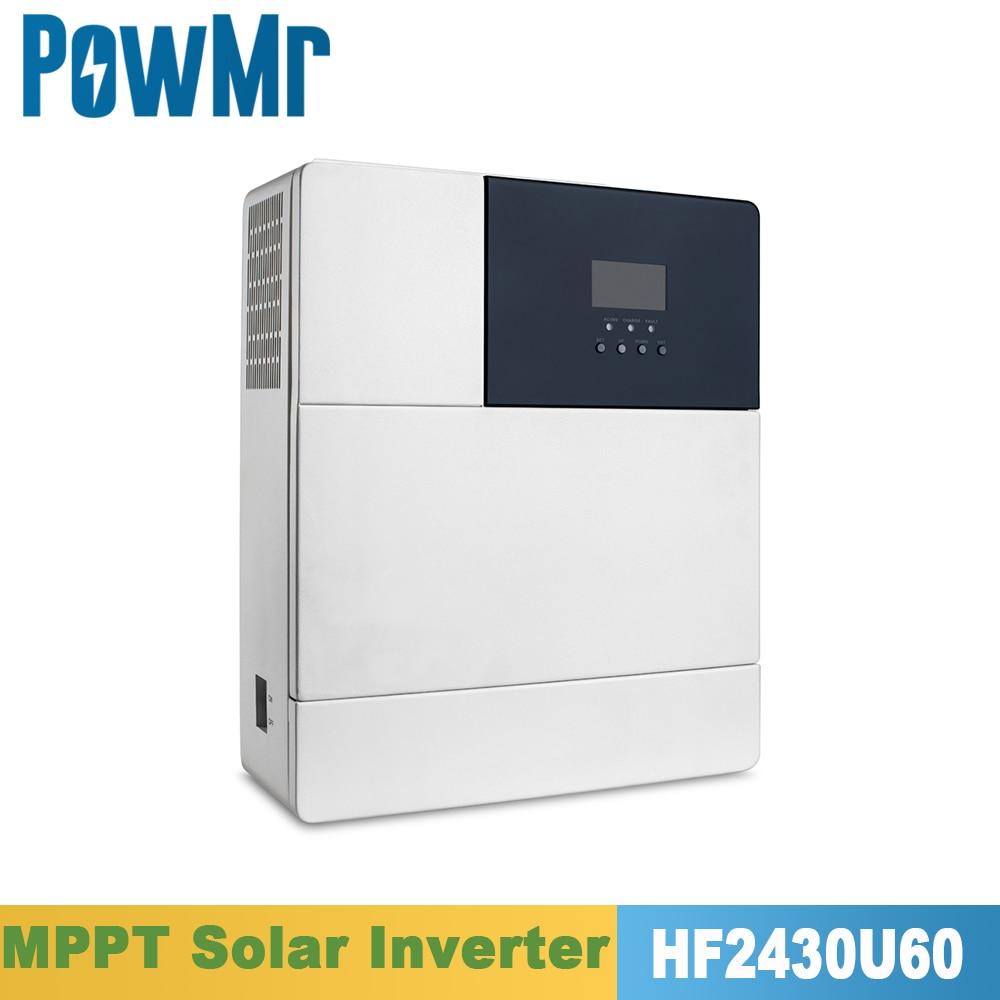powmr 2020 chegada nova mppt inversor solar hibrido 3000w 110vac 24vdc onda senoidal pura tudo em