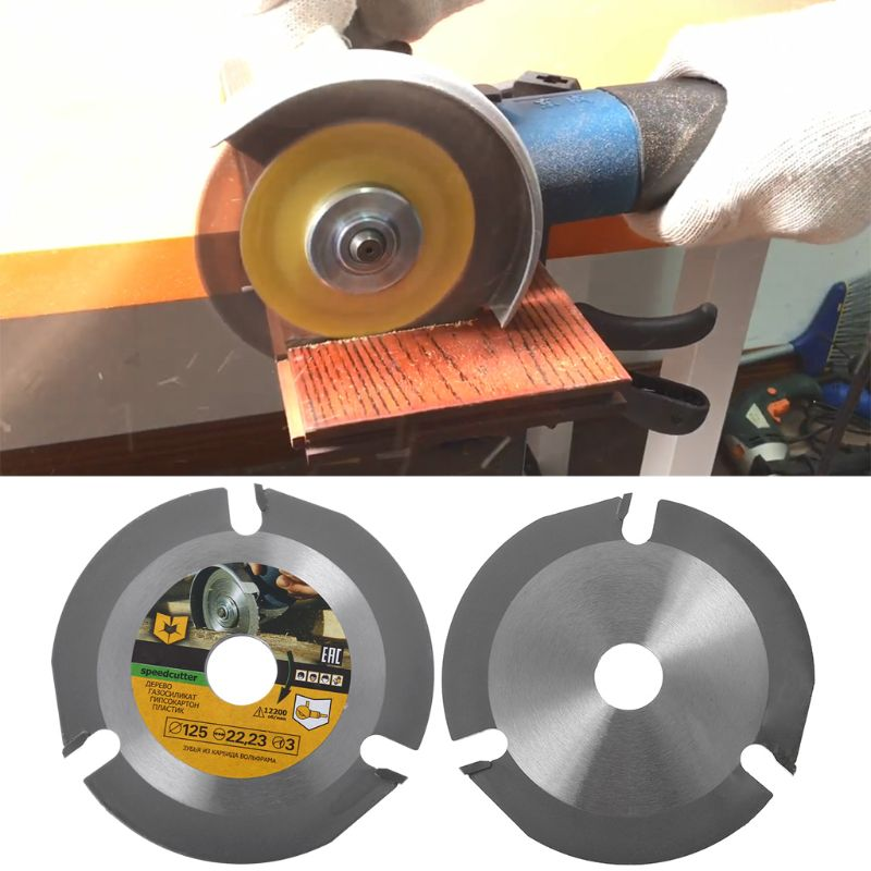 1pcs 125mm 3T Circular Saw Blade Multitool Grinder Saw Disc Carbide Tipped Wood Cutting Disc Carving Disc Tool Multitool Blades