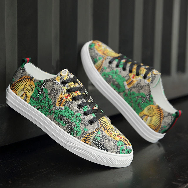 Tiger Print High Top Sneakers 2
