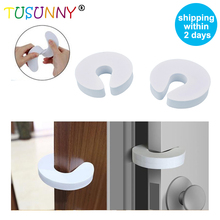 TUSUNNY 4 Pcs/set  Baby essentials Children Protection EVA C Shape portable kids&pets safety door guard Finger Safe Door Stopper kids baby eva safety safeguard gates door stopper cartoon doorways protection tool baby hand clamping preventionsafety door card