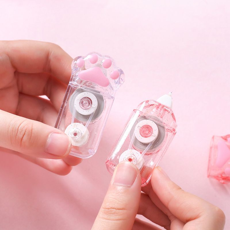 6pcs Cute Cat Claw Correction Correcting Tape Stationery Corrector School Office Supplies Student Kids Gifts DXAC