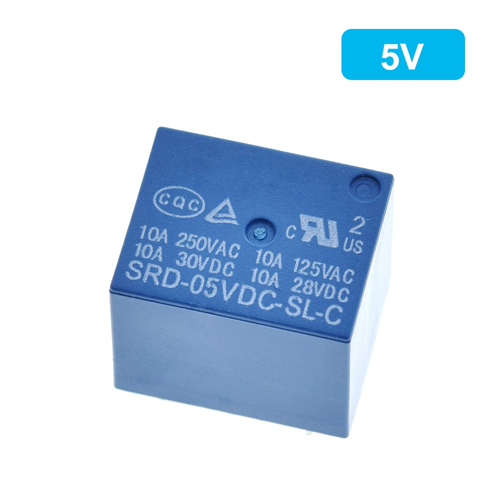 Relays SRD-03VDC-SL-C SRD-05VDC-SL-C SRD-06VDC-SL-C SRD-09VDC-SL-C SRD-12VDC-SL-C 3V 5V 6V 9V 12V 24V 48V 10A 250VAC 5PIN