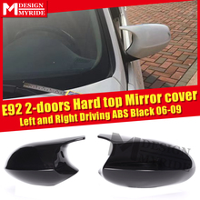 Carbon Fiber CF Mirror Cover Add on Style M3 Look For BMW E92 2DR Hard top 3 Series Sedan 1:1 Replacement Cap 06-09