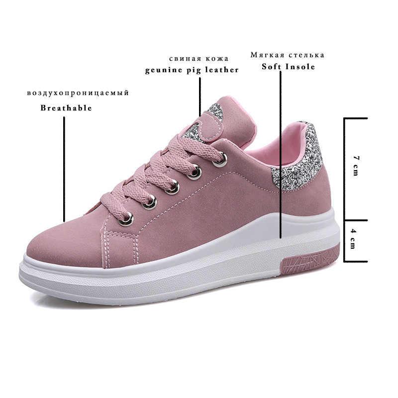 Fujin marka 2020 sonbahar kadın ayakkabı sneakers sonbahar yumuşak rahat rahat ayakkabılar moda bayan Flats kadın ayakkabısı kadınlar için