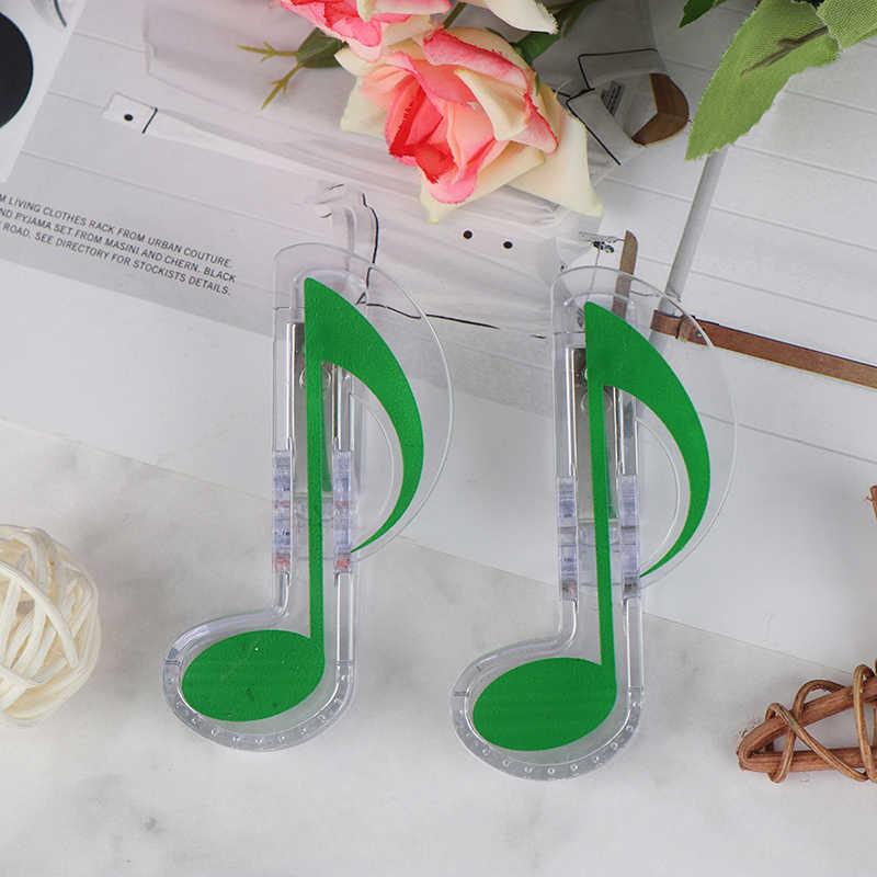 2 قطعة كتاب الموسيقية ملاحظة كليب البلاستيك كتاب الموسيقى البيانو صفحة كليب ثلاثة أضعاف كليب الموسيقى