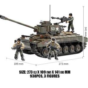 Image 3 - WW2 M26 بيرشينغ تانك بانزر T 34 (85) الولايات المتحدة الأمريكية ألمانيا الدبابات العسكرية اللبنات Soilders أرقام الطوب مجموعة لعب الأطفال