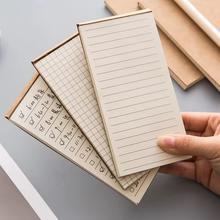 1 Pocket pc Scrapbooking Papelaria Memorando Bloco de Notas bloco de Notas Bloco de Notas de Papel Kraft Para Fazer A Lista Lista de Lágrima bloco de Notas Em Branco Etiquetas Brancas