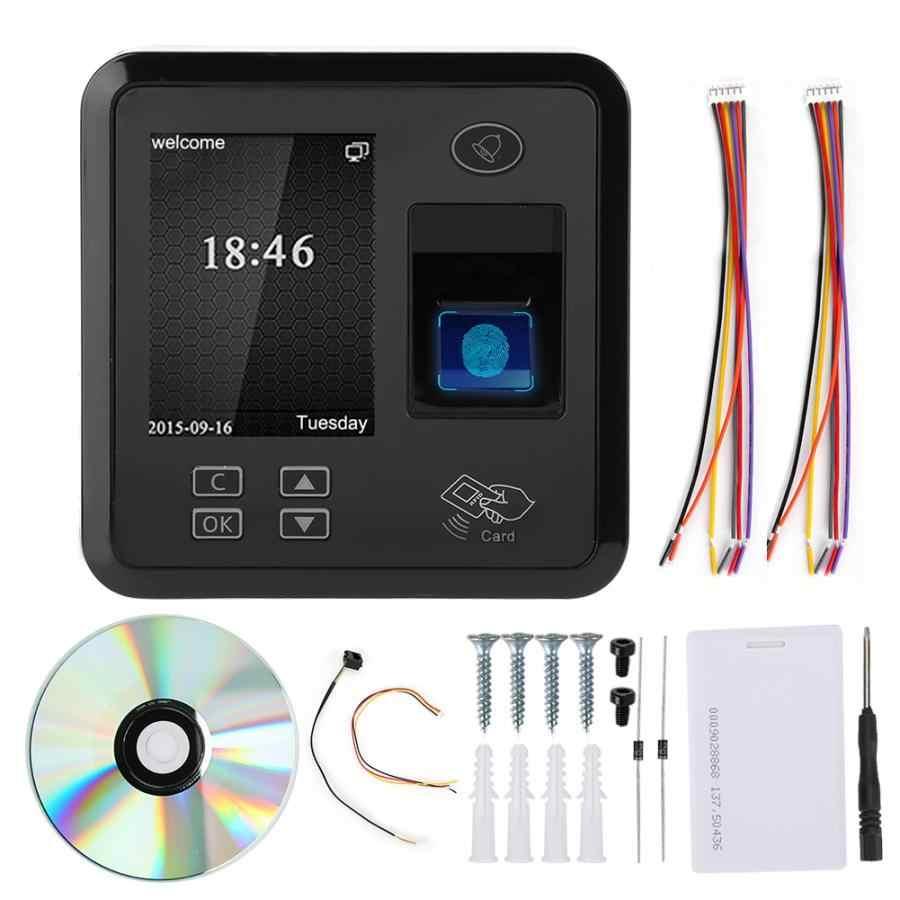 TCP IP 2.4in TFT 125 KHz Sidik Jari Kartu RFID Mesin Absensi Pintu Akses Kontrol Sistem untuk Karyawan