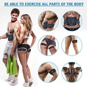 Image 3 - EMS Muscle Stimulator Trainer Smart Fitness Bauch Training Elektrische Gewicht Verlust Aufkleber Körper Abnehmen Gürtel Unisex