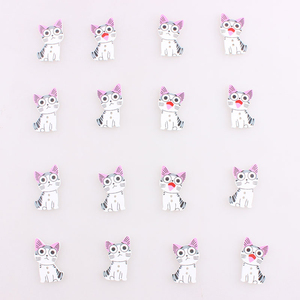 Diy Handmade Cat Buttons for Clothing Christmas Scrapbooking Noel Accessories Sewing Coats Button Scrabook 100Pcs E
