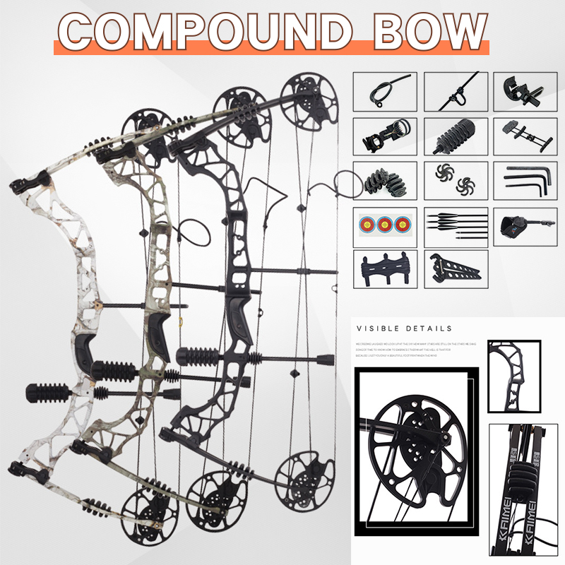 30-70 Lbs Powerful Effortless Compound Bow Sets Archery Target Bow And Arrow For Outdoor Shooting Practice Hunting Accessories