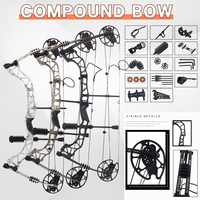 30 70 lbs Powerful Effortless Compound Bow Sets Archery Target Bow And Arrow For Outdoor Shooting Practice Hunting Accessories