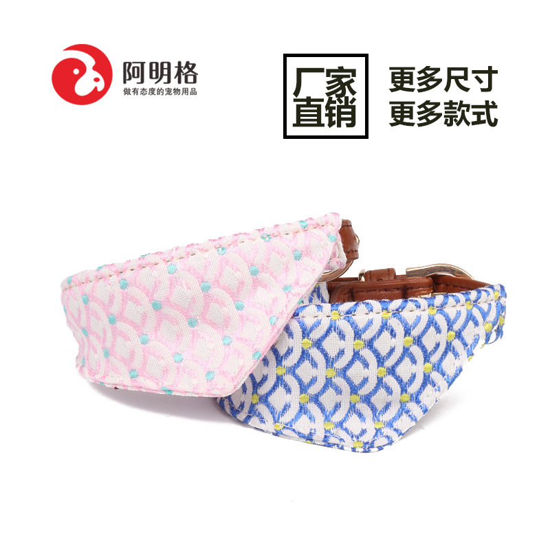 Jin Jie Te New Style Origional Small And Medium-sized Dogs Pet Triangular Scarf Neck Ring And Wind Dog Neck Ring