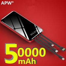 Banco de potência 50000 mah poverbank de carregamento portátil do telefone móvel carregador de bateria externa power bank 50000 mah para xiaomi mi