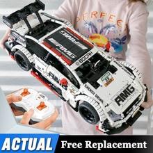 مجموعة سيارة بنز للتحكم عن بعد متوافقة مع تكنيك موك 6687 RC سيارة اللبنات الطوب لعب للأطفال الهدايا