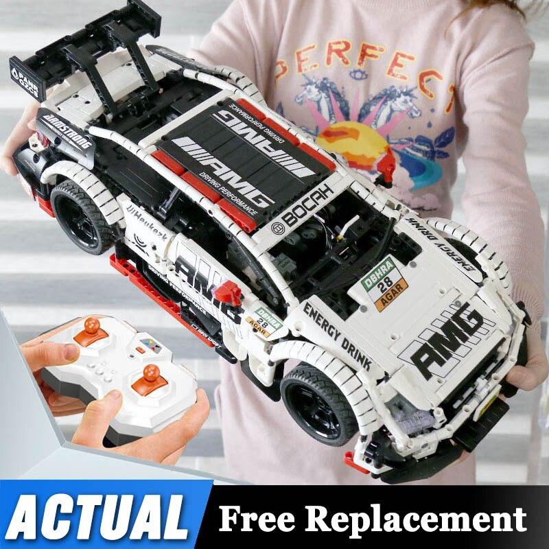 Pilot Benzs zestaw samochodowy kompatybilny Lepinblocks Technic MOC 6687 RC samochodowe klocki budowlane zabawki dla dzieci prezentyKlocki   -