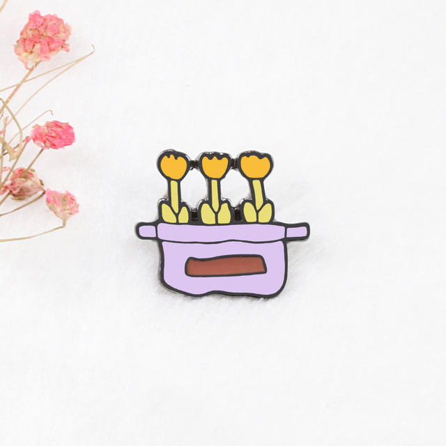 Potted Plants Brooch Pins 1