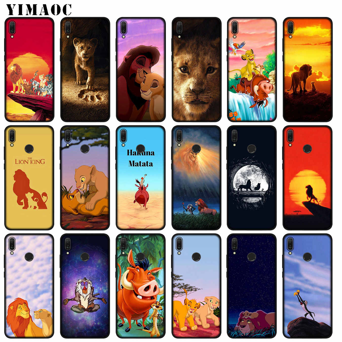 Cartoon The lion king pig Anime Soft Silicone Case for Huawei P30 P20 Pro P10 P9 Lite Mini 2017 2016 Black Cover P Smart Z 2019
