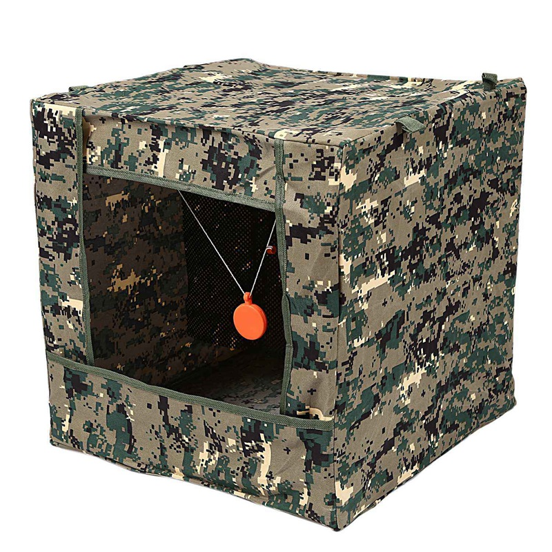 Foldable Target Box Aim Practice Tool Sling Shot Ammo Recycle Archery Target Case with Silicone Target Buffer Cloth