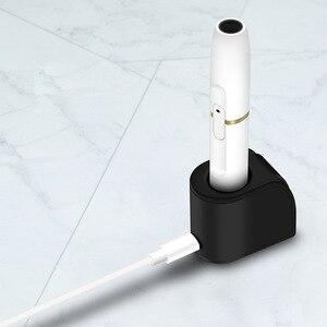 Image 1 - Şarj cihazları duman çubuk şarj IQOS için ısıtma yanmaz manyetik şarj standı Dock