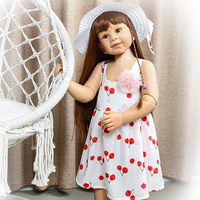 87cm Reborn Baby Girl Doll Full Body Silicone inteiro 2 years real baby size bebes reborn Toddler Toys clothing model bonecas