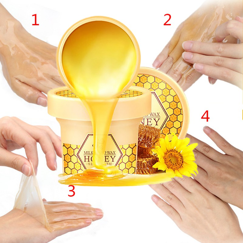 Honey Milk Hand Mask Moisturizing Remove Dead Skin Peeling Anti Crack Anti Aging Paraffin Hand Nourishing Care