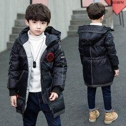 Детская одежда куртка с хлопковой подкладкой для мальчиков Новое Детское зимнее пальто