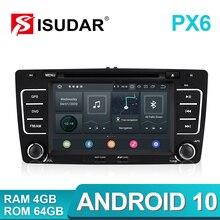 Idar r PX6 2 Din Android 10 SKODA/Yeti/Octavia 용 자동 라디오 2009 2010 2012 Hexa Core RAM 4G 차량용 멀티미디어 DVD 플레이어 GPS DVR