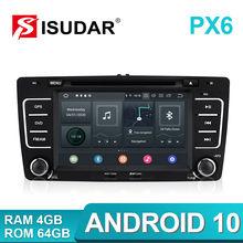 Isudar lecteur multimédia DVD, GPS et DVR, pour SKODA/Yeti/Octavia 2009 2010 2012, Android 10, Hexa Core de RAM, 4G