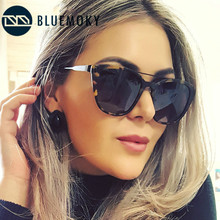 BLUEMOKY Polarized Sunglasses Women Tortoise Frame Eyeglasses Anti Reflective Fashion Glasses Women Eyewear Polaroid Lens BT6306
