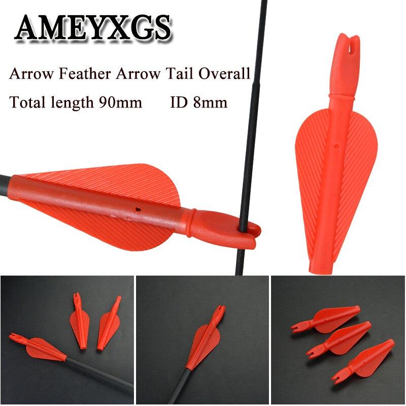 Купить 20/50 шт перо хвостовик стрелы id 8 мм пластиковые лопасти стрелки