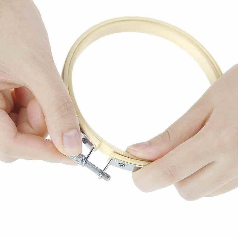 BMBY-12Pcs, Бамбуковая вышивка крестиком, обручи, круглая пяльца для вышивания, регулируемый бамбуковый круг, крестиком, обруч, деревянная вышивка, круг