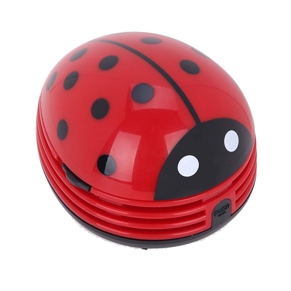Tabletop Vaccum Cleaner Ladybug Shaped Portable Corner Desk Vaccum Cleaner Mini Cute Vacuum Cleaner Dust Sweeper