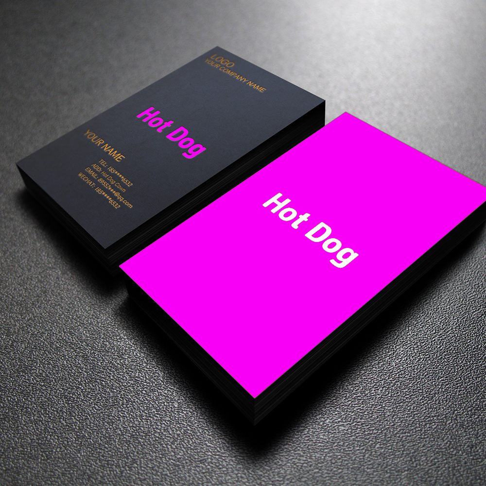 50PCS,Free Shipping Free Design Custom Logo  Business Card Double Copper Paper Double-sided   Full-color Printing