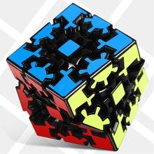 Dişli bulmaca büküm küp sihirli küp 3x3x3 3*3*3 hız küp profesyonel mantık oyunu eğitici oyuncaklar garip şekil büküm bulmacalar