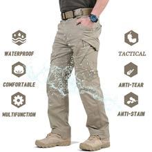 Мужские военные тактические брюки IX9, повседневные армейские брюки SWAT, походные брюки для кемпинга, водонепроницаемые брюки-карго
