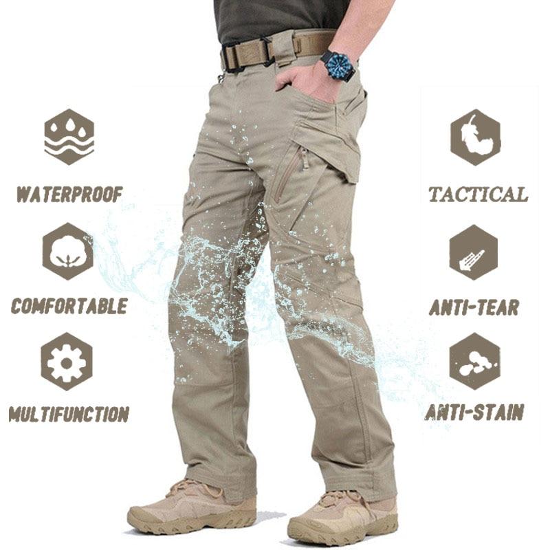 Pantalons tactiques militaires de ville pour hommes, pantalon de Combat SWAT, pantalon Cargo étanche pour randonnée, Camping, en plein air, collection IX9, décontracté