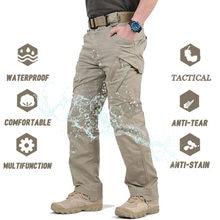 IX9 City taktyczne spodnie wojskowe mężczyźni SWAT bojowe spodnie wojskowe Casual Men spodnie do wędrówek pieszych Outdoor Camping Cargo wodoodporne spodnie