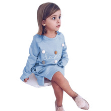 Autumn Winter Girls A Line Dress Cotton Baby Long Sleeve Clothing Party Girl Elegant Dress Kids Clothes For Children Costume muslim maxi dresses baby girls clothes costume children long sleeve dress bow scarf vestidos girl clothing sets party holiday