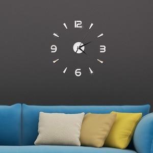 Image 4 - 2019 New 3D Wall Clock Mirror Wall Stickers Fashion Living Room Quartz Watch DIY Home Decoration Clocks Sticker reloj de pared