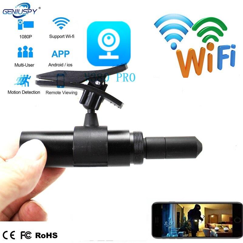 Micro caméra WIFI shot caméra 1080p HD | H.264 P2P V380 APP, objectif 35MM CCTV caméra de sécurité, fente pour carte TF, alimentation électrique 5V