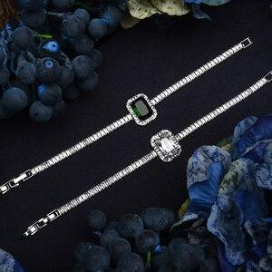 Image 4 - طقم مجوهرات HADIYANA خمر مجوهرات حفلات الزفاف مربع عقد من حجر الياقوت القرط سوار وخاتم مجموعة BN7746 Conjunto دي joyas