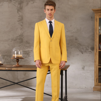 Tailor made suirt yellow suits CUSTOM MADE MEASURE mens double breasted Jacket Pants 100% wool suit tailor hade made gucci made to measure