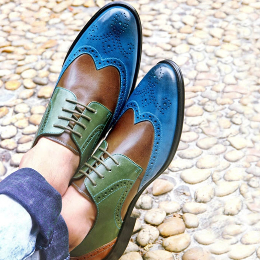 Men pu Leather Shoes Lace Up Casual Shoes Dress Shoes Brogue Shoes Spring Ankle Boots Vintage Classic Male Casual F122